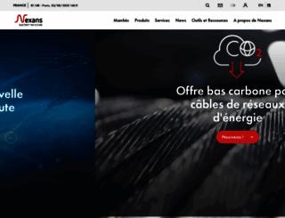 nexans.fr screenshot