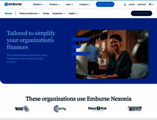 nexonia.com screenshot