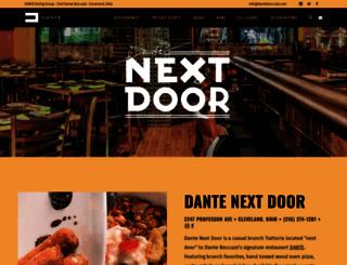 nextdoor.danteboccuzzi.com screenshot