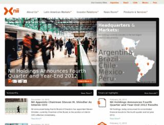 nextelinternational.com screenshot