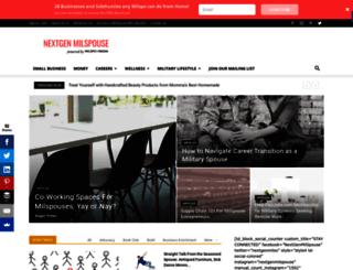 nextgenmilspouse.com screenshot