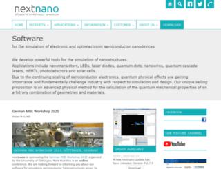 nextnano.com screenshot