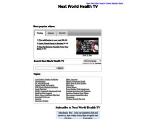 nextworldhealthtv.com screenshot