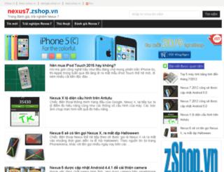 nexus7.zshop.vn screenshot