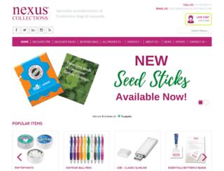 nexuscollections.com screenshot