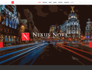 nexusnovaabogados.com screenshot