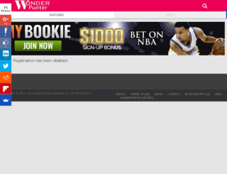 nfl.wonderpunter.com screenshot