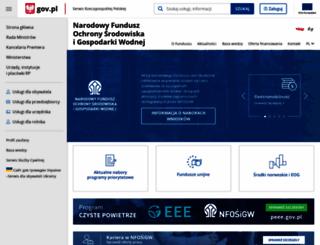 nfosigw.gov.pl screenshot