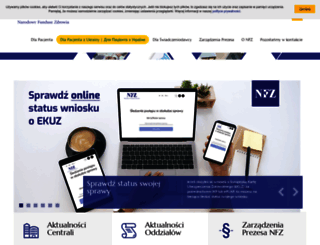 nfz.gov.pl screenshot