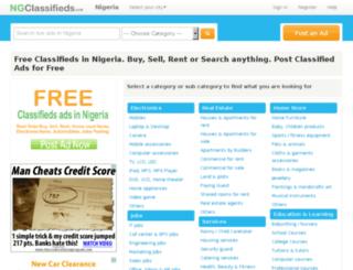 ngclassifieds.com screenshot