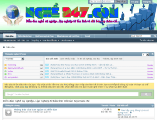 nghe247.com screenshot