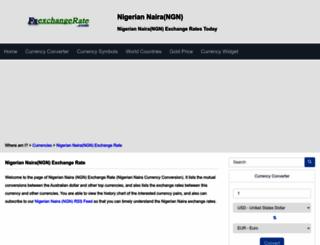 ngn.fxexchangerate.com screenshot
