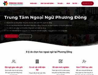 ngoainguphuongdong.com screenshot