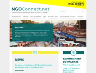 ngoconnect.net screenshot