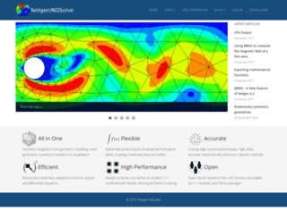 ngsolve.sourceforge.net screenshot