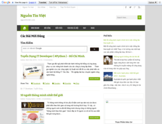 nguontinviet.com screenshot
