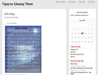 nguyenquangnhan.vnweblogs.com screenshot