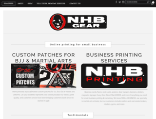 nhbgear.com screenshot