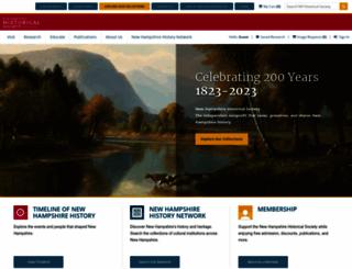 nhhistory.org screenshot