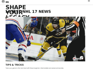 nhl.easports.com screenshot
