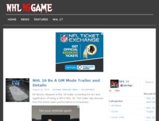 nhl16game.com screenshot