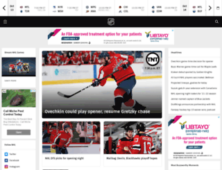 nhle.com screenshot