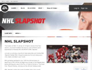 nhlslapshot.easports.com screenshot