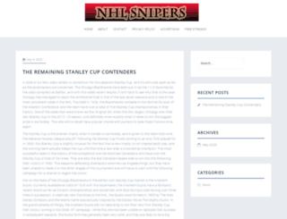 nhlsnipers.com screenshot