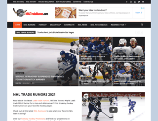 nhltraderumor.com screenshot