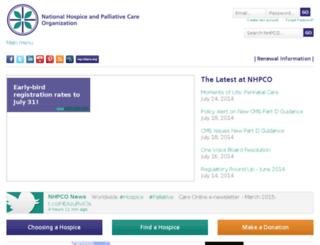 nhpco.newtarget.net screenshot