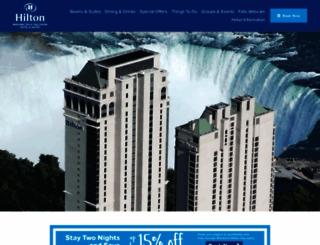 niagarafallshilton.com screenshot