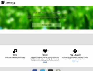 nibbleblog.com screenshot