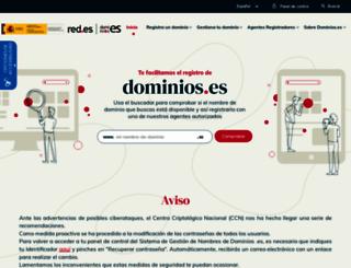 nic.es screenshot