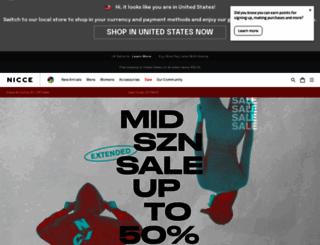 nicceclothing.com screenshot