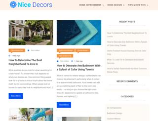 nicedecors.com screenshot