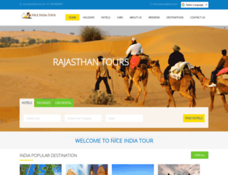 niceindiatour.com screenshot