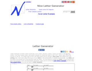 niceletter.com screenshot