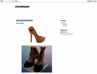 niceshoses.blogspot.com screenshot