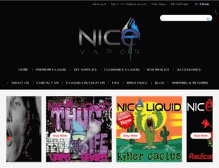 nicevapor.com screenshot