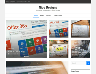 nicewpthemes.com screenshot