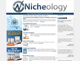 nicheology.com screenshot