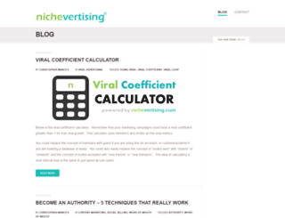 nichevertising.com screenshot