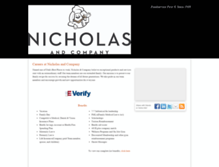 nicholasandco.hrmdirect.com screenshot