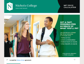 nichols.studentaidcalculator.com screenshot