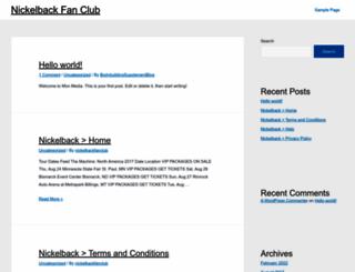 nickelbackfanclub.com screenshot