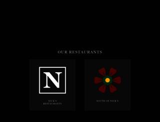 nicksrestaurants.com screenshot