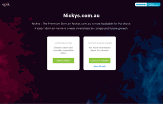 nickys.com.au screenshot
