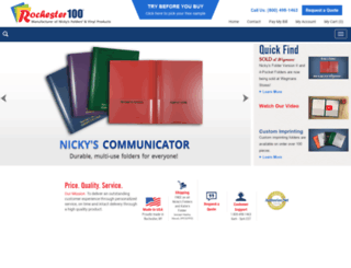 nickysfolders.americommerce.com screenshot