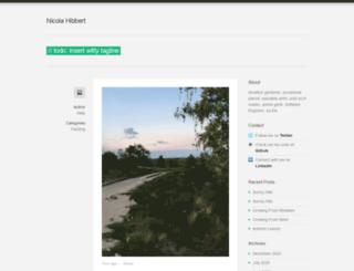 nicolahibbert.com screenshot