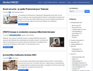 nicolasforcet.com screenshot